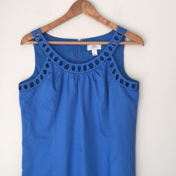 LOFT Dresses & Skirts - LOFT Blue Cross Cross Trimmed Sleeveless Dress